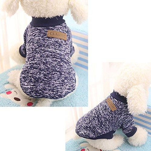 au Navy XS Kleid Minikleid Pullover Strickpullover Warm Welpe Hund ()