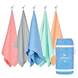 Mikrofaser Handtücher - Gym & Yoga (Blau - Extra Groß 200x90cm) - Campingtuch, Yogatuch, Größen, leicht