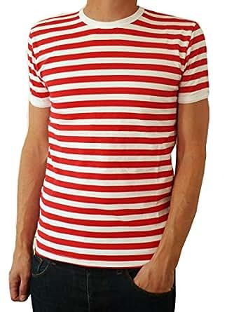 herren rot und wei gestreift indie mod bretonisch t shirt. Black Bedroom Furniture Sets. Home Design Ideas