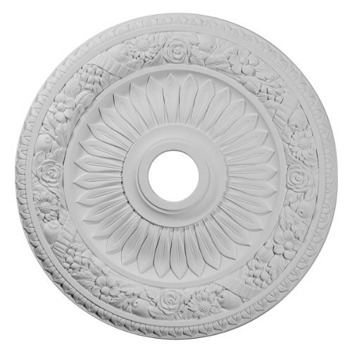 Ekena Millwork CM23BE 23 5/8-Inch OD x 3 5/8-Inch ID x 1 1/8-Inch P Bellona Ceiling Medallion by Ekena Millwork -