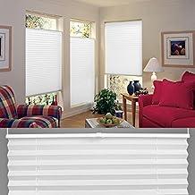 SHINY HOME® Estor Plisado Cortina Plisada 60x130cm (Blanco)