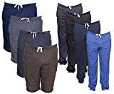 IndiWeaves Mens Combo Pack(Pack of 4 3/4 Shorts/Bermuda and 4 Lower/Track pants)_Blue.::Grey::Blue::Blue::Blue_42