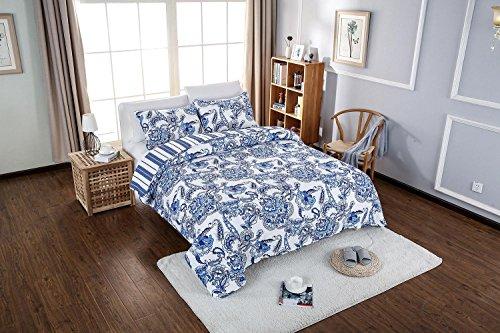 100% coton couvre-lit patchwork couette couleur unie douce et respirante 3 ensembles , 230*250cm