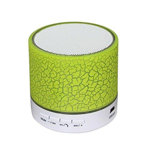 Wireless Bluetooth Lautsprecher Mini Portable Speaker mit 300 Meter Bluetooth Reichweite und starken Stereo für iPhone Tablet PC FM (Green) 300 Portable Gps