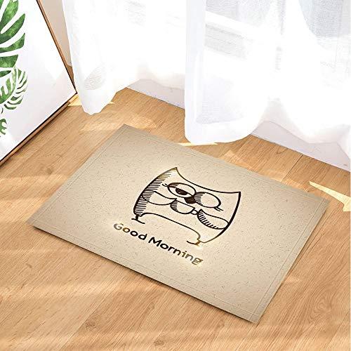 GoHEBE Bad-Teppich-Motiv: Guten Morgen Schokolade aus rutschfestem Fußabtreter mit Entryways Innen-Tür-Matte für Kinder Badteppich mit X-23.6in Badezimmer Zubehör (Schokolade-bad-teppich Große)
