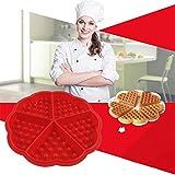 Atemberaubende Style 5Löcher Herz Form Waffel Backen Form Kuchen Kochen Werkzeug Silikon Formen