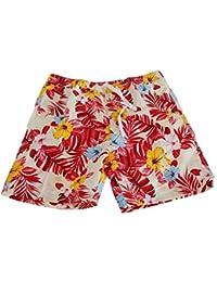 SoulStar Mens Mango Hawaiian Patterned Floral Swim Shorts