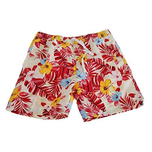Soulstar Herren Mango Hawaii Floral Muster Board Shorts Creme