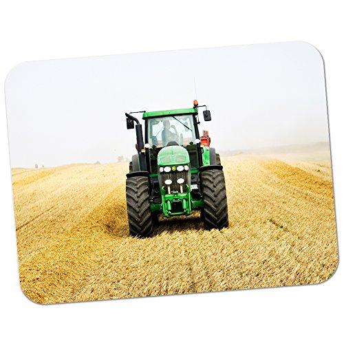 Grüner Traktor auf dem Feld Hochwertiges dickes Gummi-Mauspad mit weicher Komfort-Oberfläche -