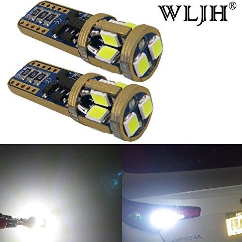 WLJH 2 x T10 LED Leuchtmittel extrem hellen 2835 SMD 300lm Canbus Fehlerfrei LED Licht 194 921 W5 W Auto Ersatz Lampe für Dome innen Trittschalldämmung Licht