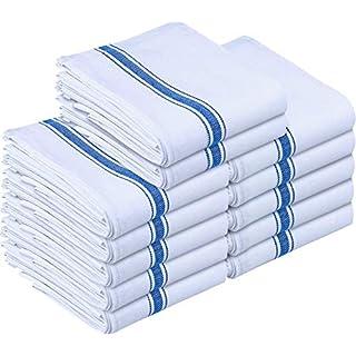 Utopia Towels 12 Pack Dish Towels 38 x 64 cm Kitchen Towels, Bar Towels and Tea Towels (Blue)
