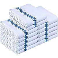 Utopia Towels - Paño de Cocina Lavable a máquina de algodón Cocina Blanca Paños de Cocina Toallas de té Toallas (38 x 64 cm) (Azul) (Azul, 12 Piezas)