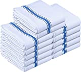 Utopia Towels - Strofinaccio Cucina, Tovaglioli da Cucina (38 x 63 cm, Blu) (Blu, Confezione da 12)