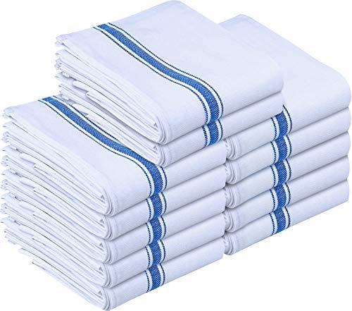 Utopia Towels - Geschirrtuch Küchentücher aus Baumwolle, 38 x 64 cm (Blau) (Blau, 12er Pack)