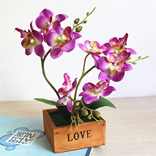 LIXIAOXIN Butterfly Orchid Bonsai Simulation False Schmuck Dekoration Violett