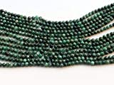 Earth Gems Park Super Fine Quality Gems Jewelry 5 Strand Natural Emerald Beads, Natural Emerald Plain Round Beads, Emerald Necklace, 5mm 12' Long Code:- BF-17985