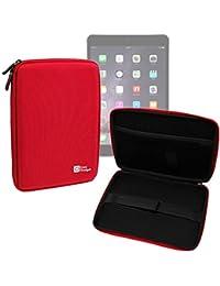 DURAGADGET Funda Rígida Roja Para Apple iPad Air 2 ( Wi-Fi, Wi-Fi + Cellular ) - Con Cremalleras De Alta Resistencia Y Bolsillo Interno