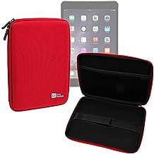 DURAGADGET Funda Rígida Roja Para Apple iPad Air 2 (Wi-Fi, Wi-Fi + Cellular) - Con Cremalleras De Alta Resistencia Y Bolsillo Interno