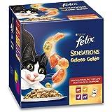Felix Sensations Gelees Katzenfutter Geschmacksvielfalt vom Land, 4er Pack, (4 x 24 x 100 g) Beutel