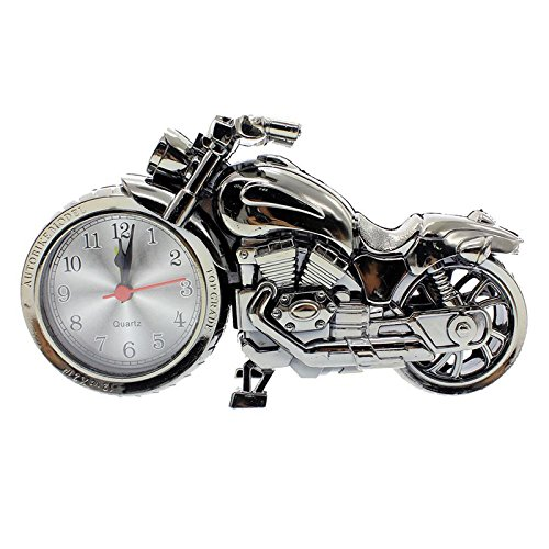 Accedre Creative Decorative Bike with Alarm Clock-Silver