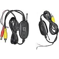 RAXFLY RCA Ricevitore Trasmettitore Wireless per Telecamera Retromarcia 2.4GHZ Videocamera