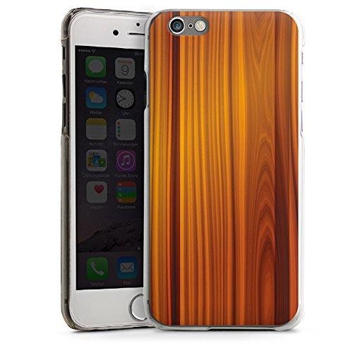 Apple iPhone 5s Housse étui coque protection Noyer Look bois Grain CasDur transparent