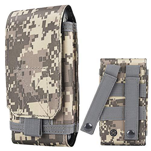 Shidan Tactical Molle Pouch, 1000D Nylon Camo Compact Handytasche Gürteltasche Smartphone