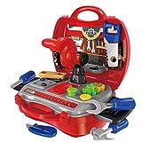 Rolanli 18er Set Emulations Reparaturwerkzeug Werkzeugkoffer Kinder Werkzeug Koffer Spielzeug für Kinder