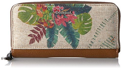 Desigual Damenbörse Zip Around Tropical Fly marfil (Zip Portemonnaie-tasche Around)