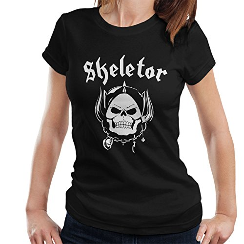 Skeletor With Helmet He Man Masters Of The Universe Women's T-Shirt Black