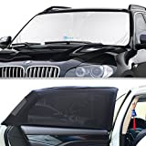 Windshield Sun Shade & Baby Sun Shade (2-Piece Set) by KoolZone - Universal Window Shade - Reduces Interior Heat & Protects Children - Decreases Sun Damage - Easy to Install