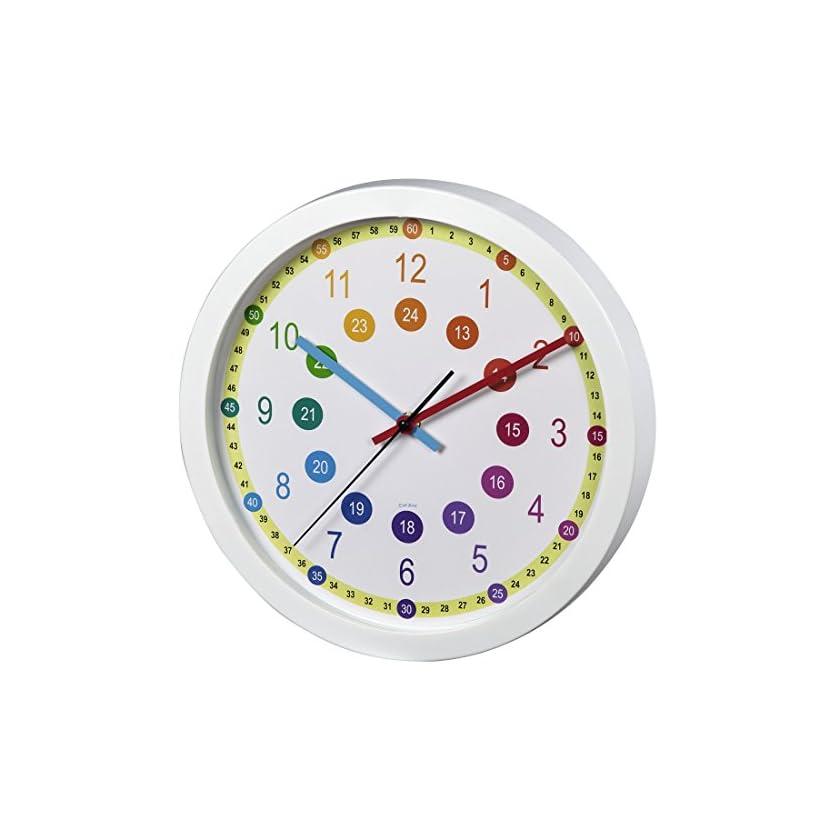 Hama analoge Kinderwanduhr Lernuhr, zum Lernen der Zeit, ohne Ticken 1
