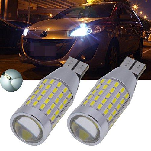 TUINCYN Super Bright T15 ampoule LED Blanc Voiture sauvegarde inversée lumière 3014 87smd Xenon Blanc 921 912 Sauvegarder Lampes de rechange 12 V-24 V (lot de 2)