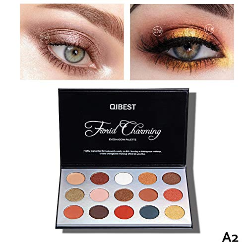 OYOTRIC 15 Color Matte Eyeshadow Makeup Palette Shimmer Glitter Pigment Textured Eye Shadow Beauty Makeup Cosmetic Set