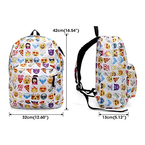 51j7YLVzMeL. SS500  - KING DO WAY Emoji School Bag Backpack Canvas Laptop for Boys Girls Student Travel Books Shoulder Bag