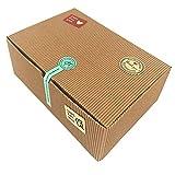Chilly - Scatole regalo per dolci, set di 10 scatole decorative per prodotti da forno, biscotti, cupcake, cioccolatini, 37 adesivi inclusi.
