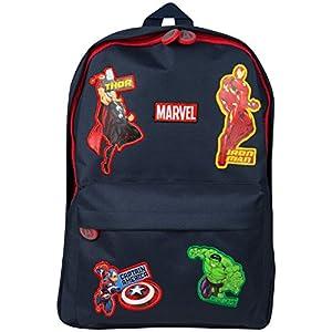 51j7ZwriGNL. SS300  - Marvel Avengers Mochila Escolar Capitán América Thor Hulk Iron Man para Niños Maleta Saqueo Viaje