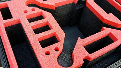 Koffer / Transportkoffer von MC CASES passend für DJI Phantom 2 Vision und Vision Plus vorgefertigt - Ready to use - Platz für 6 Akkus ... - 4