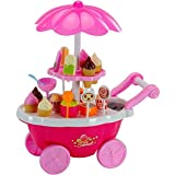 Ice Cream & Candy Cart Kitchen Set With Lights And Music