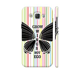 Colorpur Grow Wings Not Ego In Multicolor Mobile Case Back Cover For Samsung Galaxy E5 (Matte Multicolor)