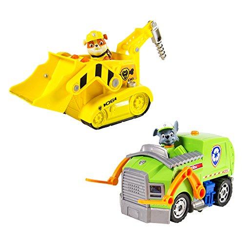 Paw Patrol - 6026257 - Véhicule Miniature Deluxe - Rocky Ou Ruben - Modèle Aléatoire