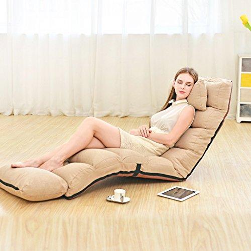 JH Faltbarer Boden-Stuhl-entspannender fauler Sofa-Bett-Sitz mit mehrfacher justierbarer Aufenthaltsraum-Boden-Liege-Lagerschwelle Futon-Matratzen-Sitz-Stuhl mit Kissen (Size : E)