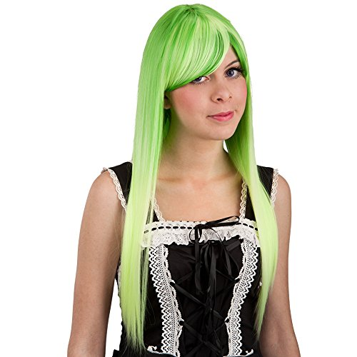 Carnaval Juguetes 2862 - peluca, extra largo, verde