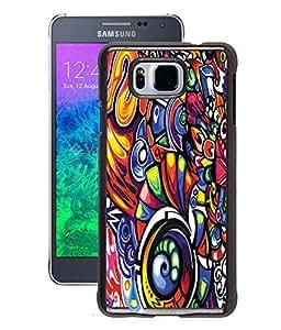 Fuson 2D Printed Pattern Designer Back Case Cover for Samsung Galaxy Alpha - D1010