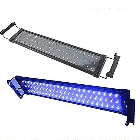 Glighone LED Aquarium Lampe Licht Aufsetzleuchte für 30-45cm Aquarien 6W 36 LEDs mit EU-Stecker