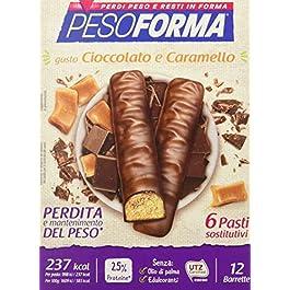 Pesoforma Barrette Cioccolato e Caramello – Pasti sostitutivi dimagranti SOLO 237 Kcal Ricco in proteine – 6 pasti