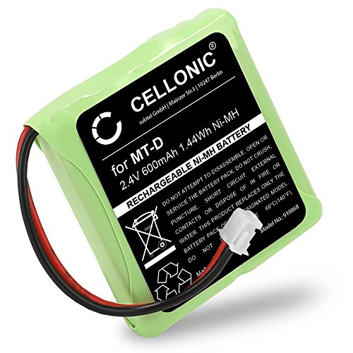 Cellonic Qualitäts Akku für AVM Fritz Fon MT-D, Audioline Slim DECT 500 502 580 582, Telekom Sinus 201/A201, Doro TH50 TH60 (600mAh) 5M702BMX,GP0735,GP0747,GP0827 Fritz!Fon Ersatzakku Batterie