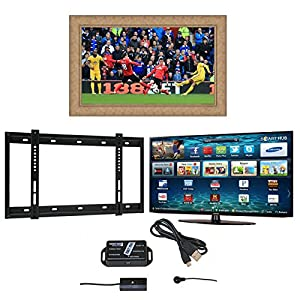 Surrey Samsung Widescreen Full HD 3D Smart LED Television, Surrey TV Mirror Frame, Wall Bracket and Infra Red Extender with 5 Years Manufacturer's Warranty