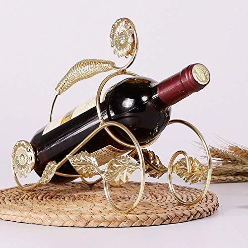 Golden_flower Iron Art Begonia Blumenform Weinregal Champagnerständer Weinregal Weinregal Weinregal Weinflaschenständer Kreativer Weinschrank Restaurant Weinschrank, Gold - Begonia-arten