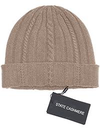 4e514d4b92e8e7 State Cashmere Wollstrickmütze aus 100% reinem Kaschmir, aus Kabeln  gestrickt – unübertreffbar…